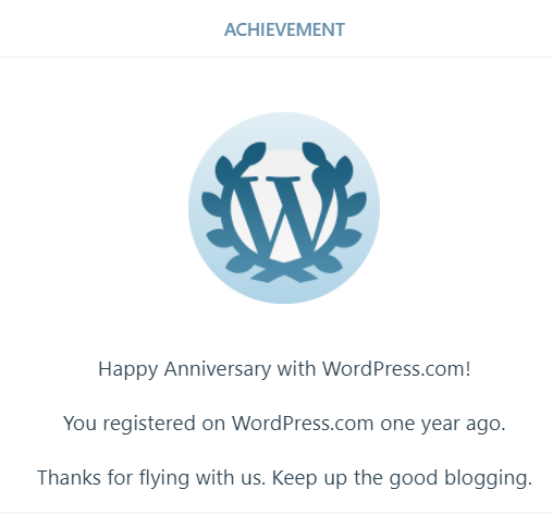 1 yr wordpress blog badge 2017
